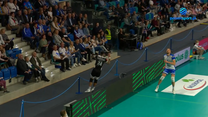 Niesamowita obrona w meczu Ślepsk Malow Suwałki - Indykpol AZS Olsztyn. WIDEO (Polsat Sport)