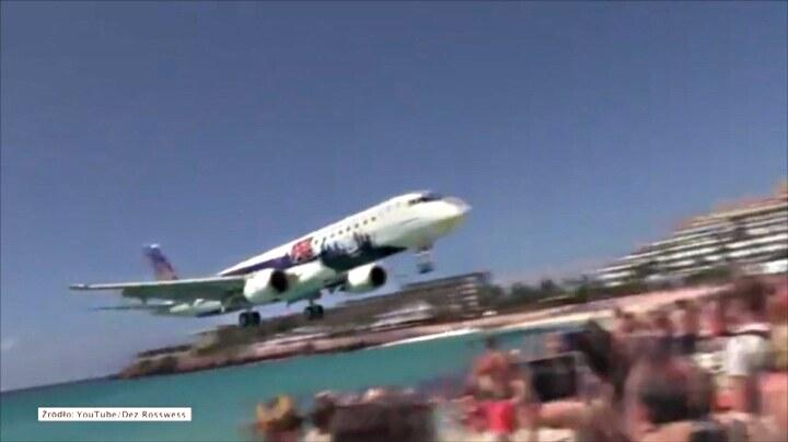 Niesamowite lądowanie samolotu przy plaży /STORYFUL/x-news