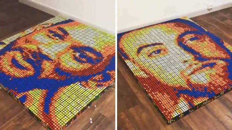 Niesamowite obrazy słynnych artystów stworzone ze zwykłych kostek Rubika /Geekweek