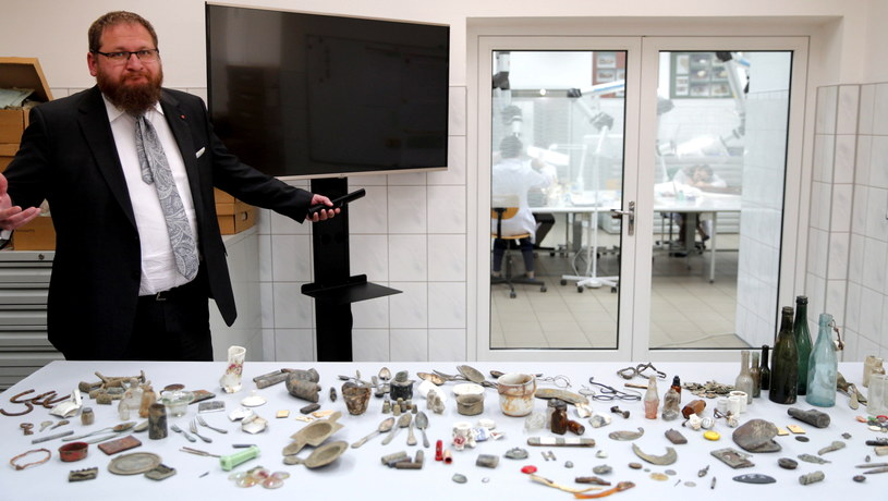 Niesamowite znalezisko na terenie byłego obozu zagłady /Andrzej Grygiel /PAP