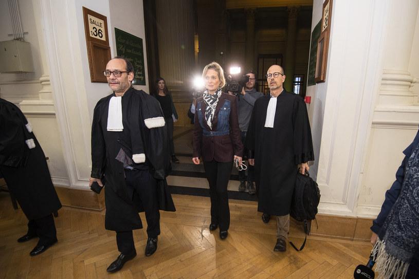 Nieślubna córka króla Belgów ALberta II Delphine Boël wraz ze swoimi prawnikami /LAURIE DIEFFEMBACQ    /Agencja FORUM