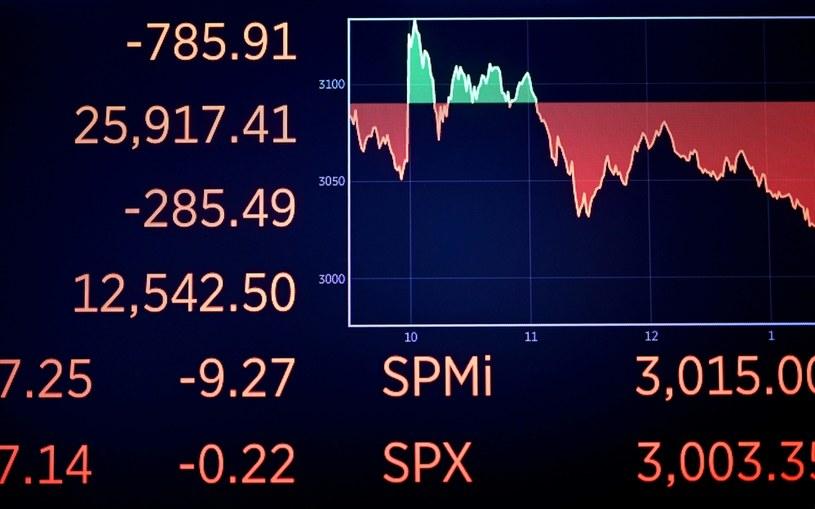 Niespodziewana obniżka stóp procentowych o 50 pb. nie pomogła amerykańskim rynkom akcji /JOHANNES EISELE /AFP