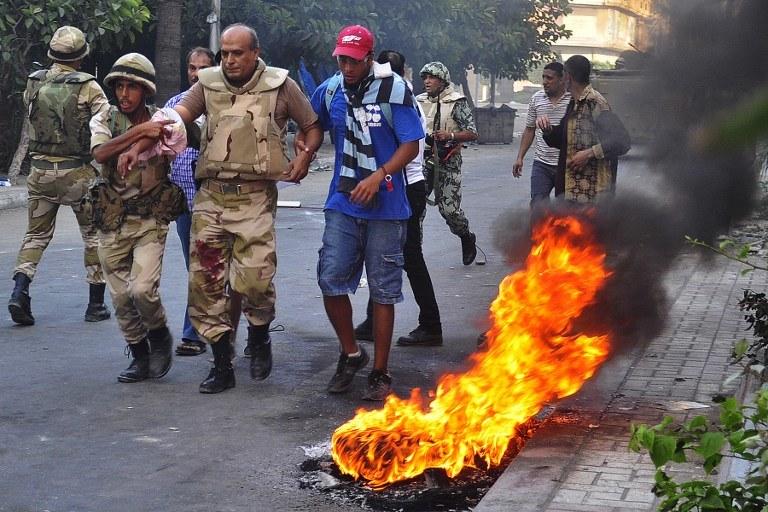 Niespokojna sytuacja w Egipcie /AFP