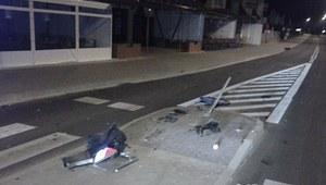 Nietrzeźwy agresywny kierowca niszczył znaki drogowe