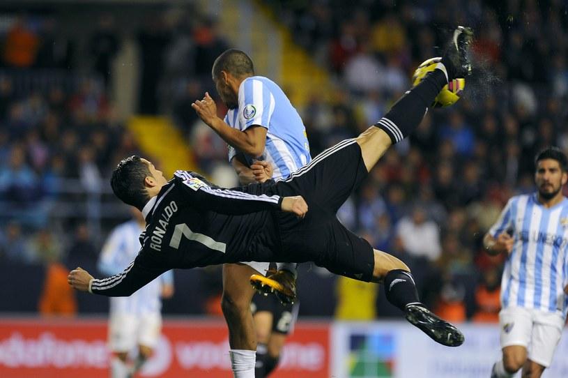 Nieudana przewrotka Ronaldo /AFP