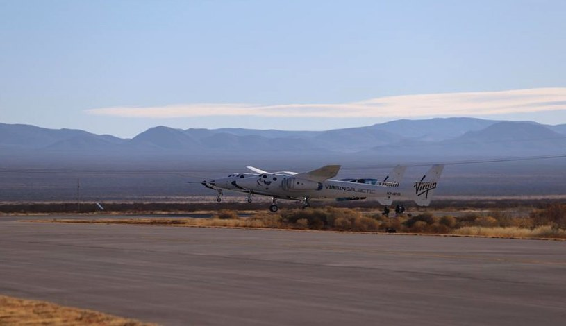 Nieudany lot rakietowy VSS Unity. Fot. Virgin Galactic /materiały prasowe