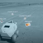Niewielki robot, który wspomoże w zbieraniu śmieci