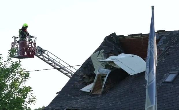 Niewielki samolot wbił się w dom w Niemczech. Nikt nie zginął