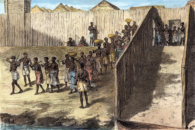 Niewolnicy zmuszani do pracy (ilustracyjne) /The Granger Collection, New York   /Agencja FORUM