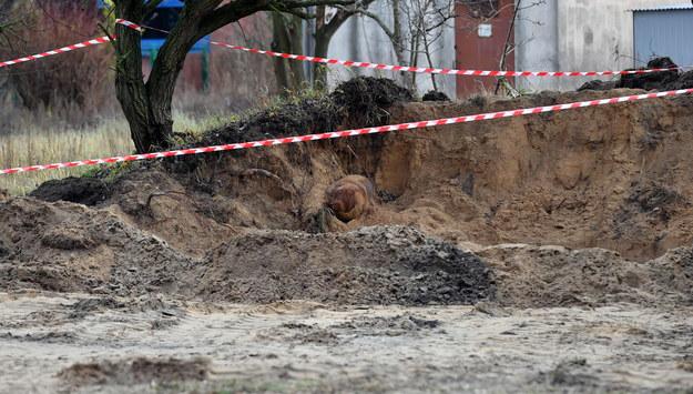 Niewybuch w Policach / Marcin Bielecki    /PAP