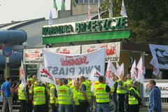 Niezadowoleni górnicy w Brzeszczach