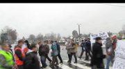Niezadowoleni mieszkańcy Ostródy blokują drogę krajową nr 7