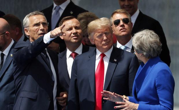 Niezaplanowane spotkanie Duda-Trump na szczycie NATO w Brukseli