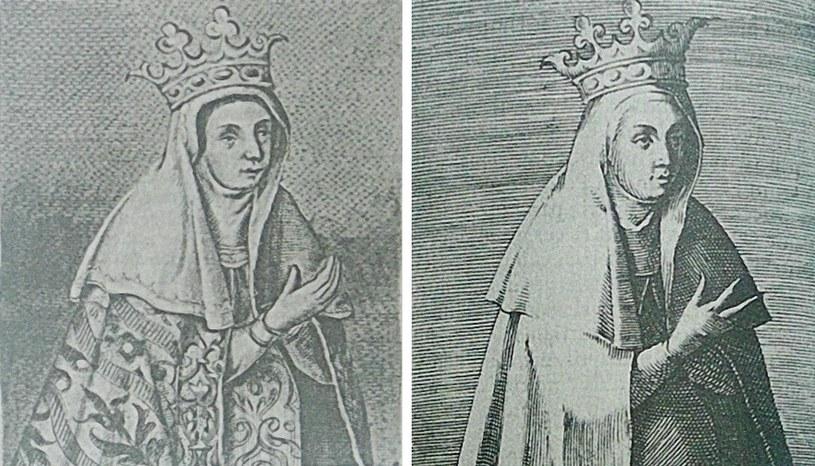 Niezbyt atrakcyjne wyobrażenia Jadwigi Andegaweńskiej z 1591 i 1594 roku (domena publiczna). /Ciekawostki Historyczne