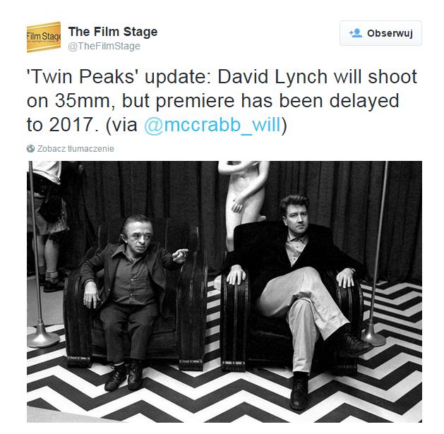 """Niezbyt optymistyczna wiadomość dla fanów """"Twin Peaks"""" /internet"""