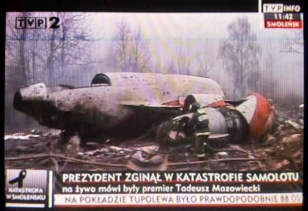 Nieznane materiały filmowe z miejsca katastrofy samolotu Tu-154M będą zaprezentowane w Sejmie /AFP