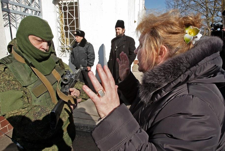 """""""Nieznani żołnierze"""" na Krymie /ARTUR SHVARTS /PAP/EPA"""