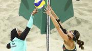 Niezwykłe zdjęcia z meczu siatkówki plażowej
