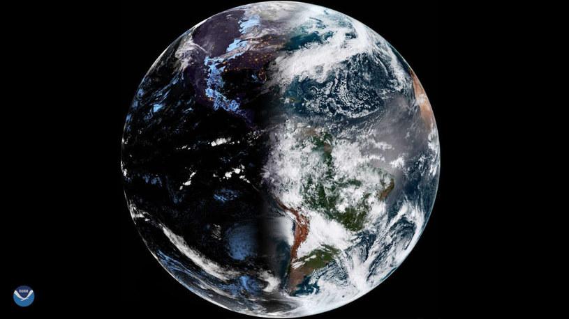 Niezwykłe zdjęcie Ziemi wykonane przez satelitę NOAA /materiały prasowe