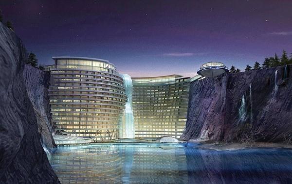 Niezwykły hotel będzie wybudowany na dnie kamieniołomu w południowo-zachodniej dzielnicy Szanghaju /Informacja prasowa