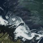 Niezwykły wir z lodu zaobserwowany u wybrzeży Kanady