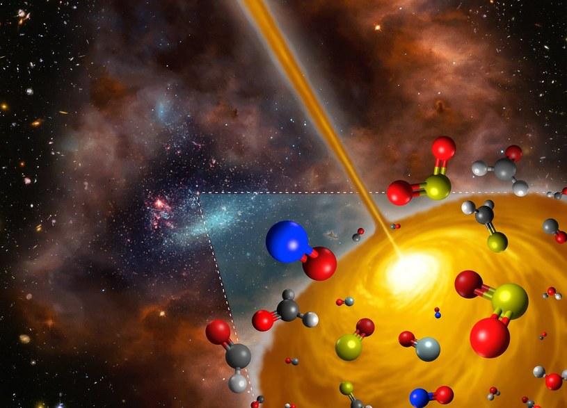 Nigdy wcześniej nie zaobserwowano gorącego rdzenia cząsteczkowego poza Drogą Mleczną /NASA
