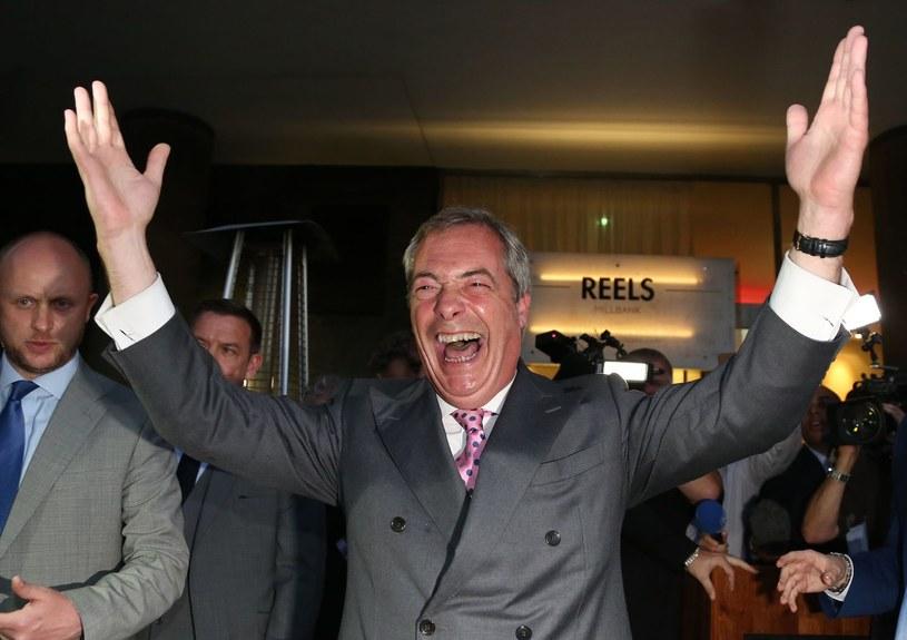 Nigel Farage, były polityk i orędownik wyjścia Wielkiej Brytanii z Unii Europejskiej. /GEOFF CADDICK /AFP