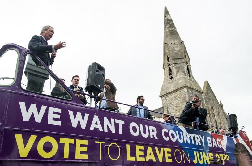 Nigel Farage podczas kampanii /CHRIS J RATCLIFFE /AFP