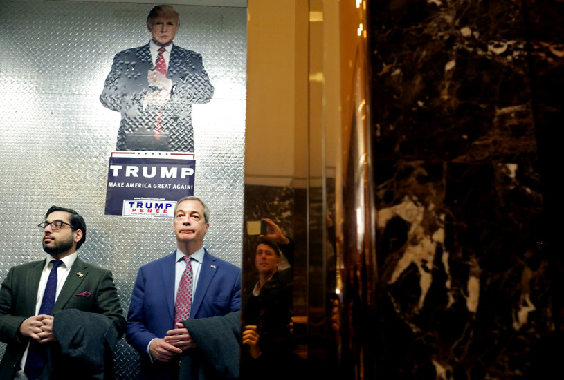 Nigel Farage w Trump Tower /AFP