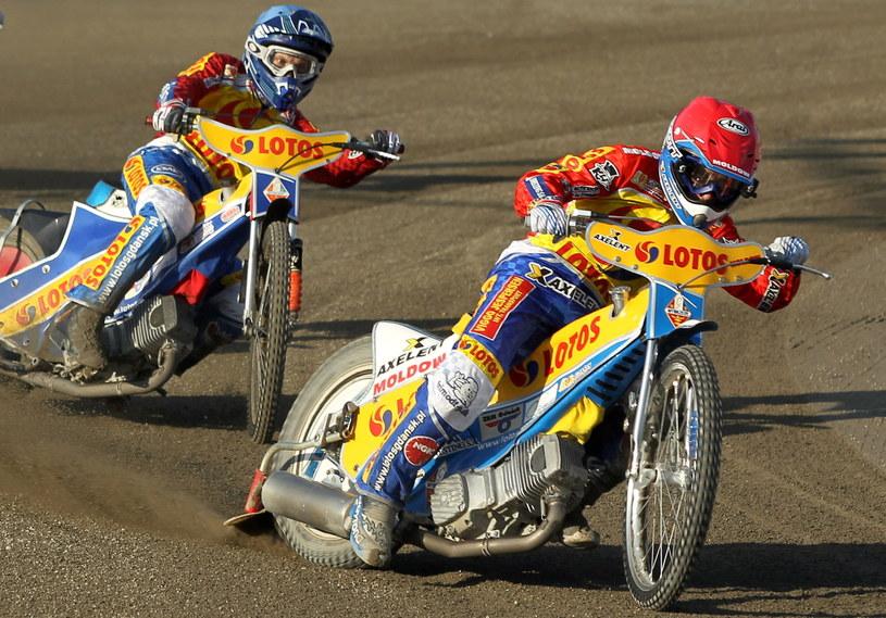 Niki Pedersen i Zbigniew Suchecki /Fot. Piotr Wittman /PAP
