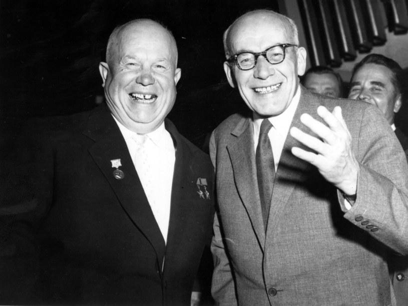 Nikita Chruszczow (z lewej) i Władysław Gomułka. /Getty Images