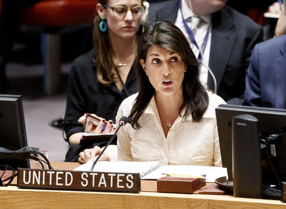 Nikki Haley -  stała przedstawicielka USA w ONZ /JUSTIN LANE /PAP/EPA