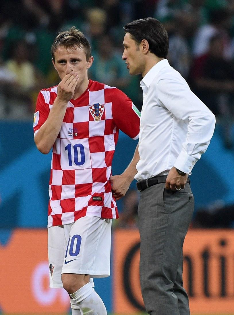 Niko Kovacz (z prawej) i Luka Modrić /AFP