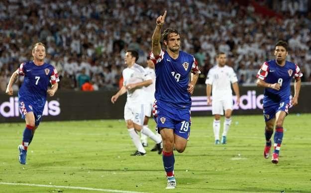 Niko Kranjcar, pomocnik reprezentacji Chorwacji /AFP