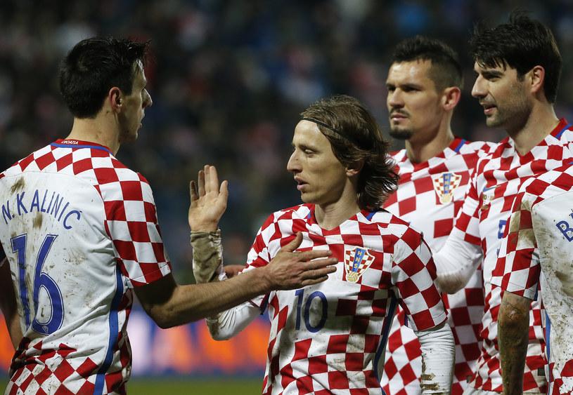 Nikola Kalinić (pierwszy z lewej) w reprezentacji Chorwacji /Srdjan Stevanović /Getty Images