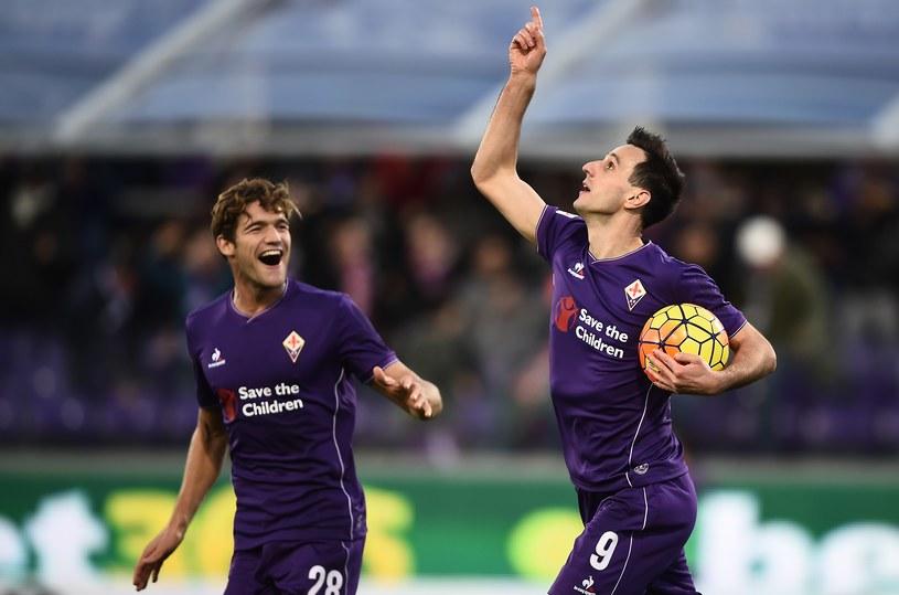 Nikola Kalinić (z piłką) strzelił dwa gole Empoli /AFP
