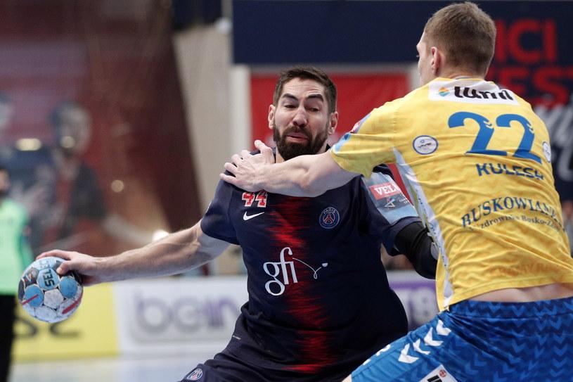 Nikola Karabatic w ataku na bramkę PGE Vive Kielce /PAP/EPA