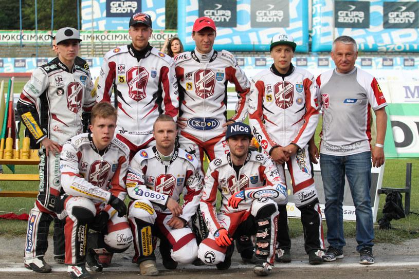 Nikołaj Kokin z drużyną Lokomotivu Daugavpils /Sebastian Maciejko /Newspix