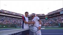 Nikołoz Basilaszwili pokonał Taylora Fritza w półfinale Indian Wells. WIDEO