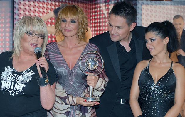 Nina Terentiew, Agnieszka Włodarczyk, Krzysztof Ibisz i Kasia Cichopek, fot. Andras Szilagyi  /MWMedia