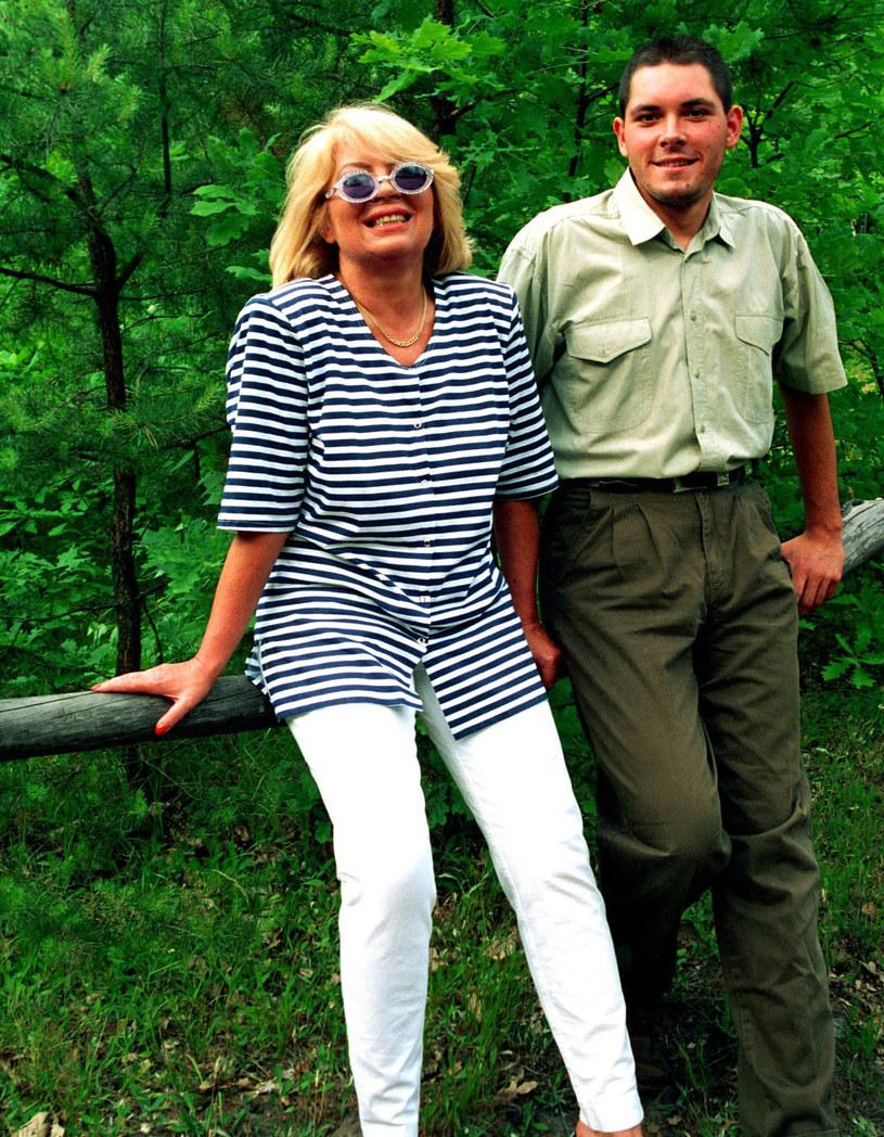 Nina Terentiew z synem, lata 90./FOTONOVA /Czesław Czapliński /East News