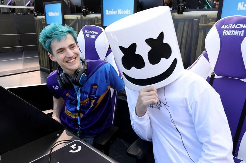 Ninja i Marshmello podczas turnieju Epic Games Fortnite E3 Tournament /AFP
