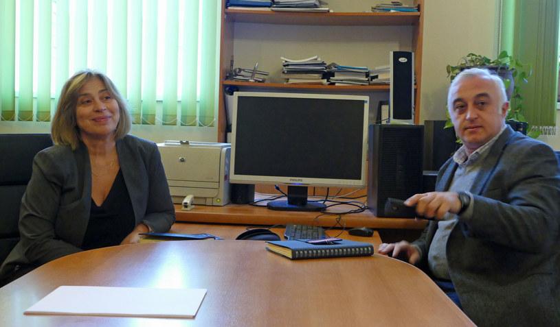 Nino Beselia i Aleksander Kalandadze; oboje zadeklarowali pomoc dla przedszkola w Zaridzeebi. /Marcin Ogdowski /INTERIA.PL