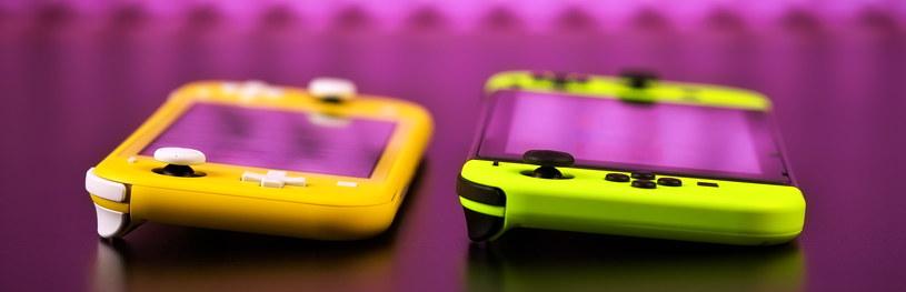 Nintendo Switch Lite (z lewej) i Switch - urządzenia mają m.in. inaczej skonstruowany d-pad (krzyżak) /123RF/PICSEL
