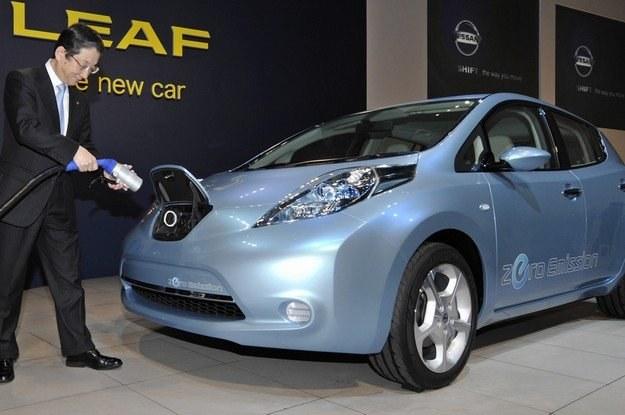 Nissan leaf /AFP