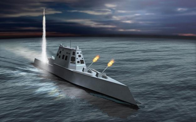 Niszczyciel typu Zumwalt - wizja artysty. Fot. Northrop Grumman /materiały prasowe