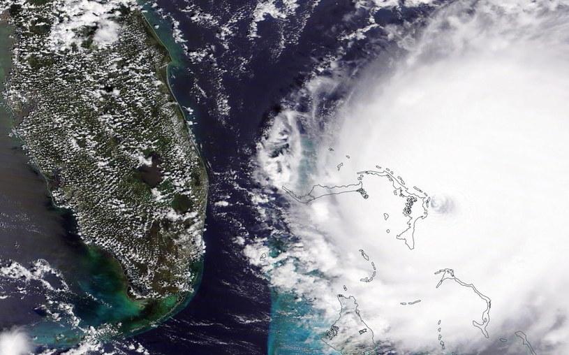 Niszczycielska siła huraganu /NASA /PAP/EPA