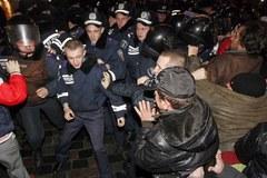 Nocne starcia w Kijowie