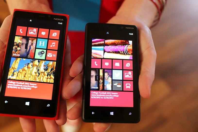 Noika Lumia 920 (L) i 820 /AFP