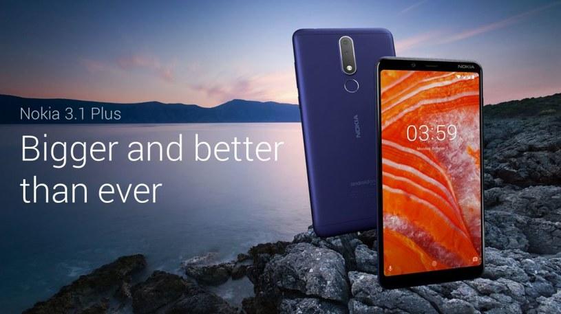 Nokia 3.1 Plus /materiały prasowe